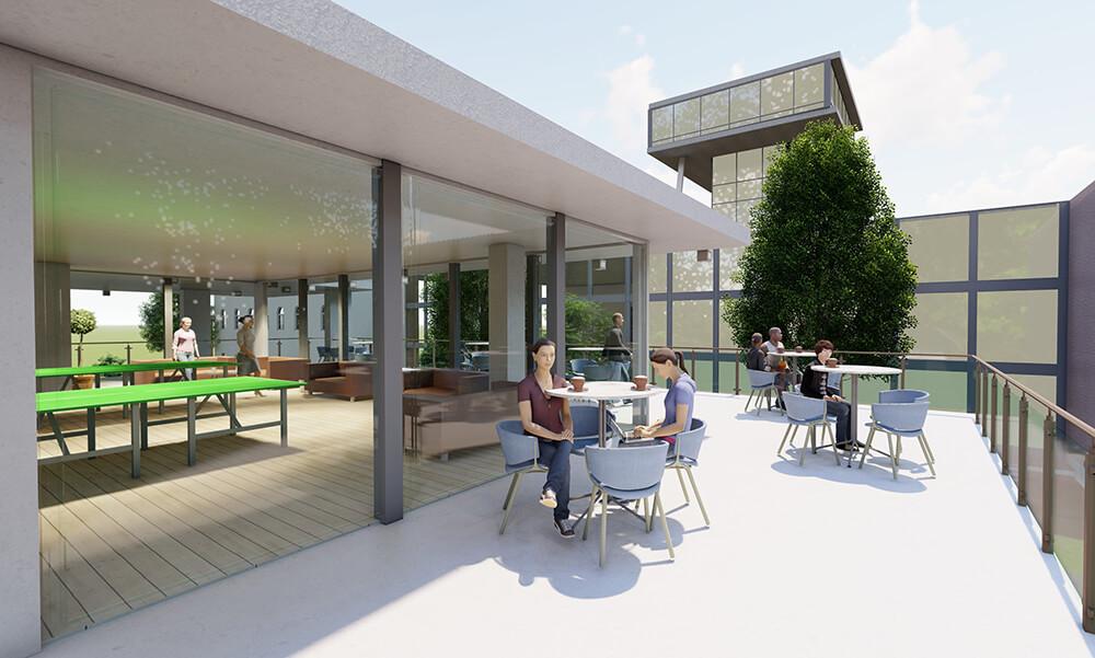 Entwurf aus einem Lehrworkshop des Fachbereichs Architektur der Jade Hochschule (BIM Planspiel 2020)